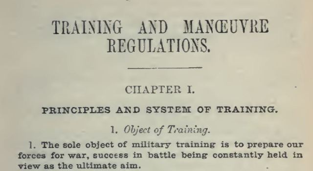 Object of Training