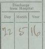 Influenza discharge date