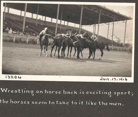 1916 06 17 wrestling on horseback
