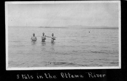 5b Three pals in the Ottawa River