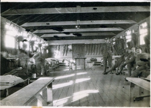 A2009.202.021 - Military - Inside Barracks, Hut EF59, inside view, Witley - courtesy of Marie Christie