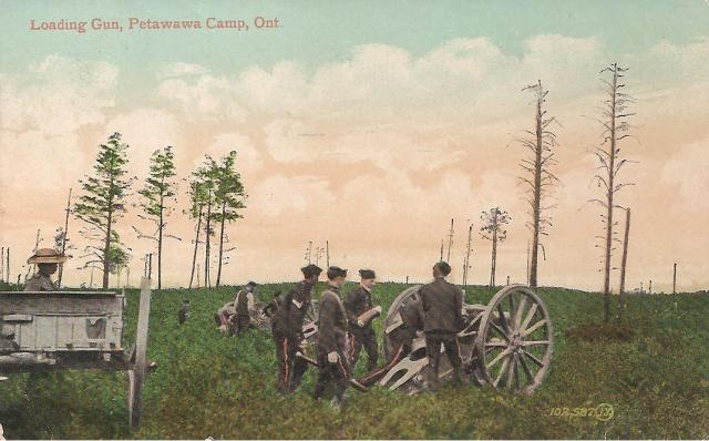 post card of Petawawa sent from Amherst Aug 1916