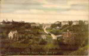 Liddiard.postcard.GodalmingCharterhouse.Front.