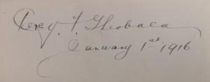 Lytton My Novel signature PFT