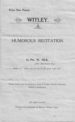 Witley Humourous Recitation cover